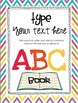 Class ABC Book Starting Template Editable and Adaptable!