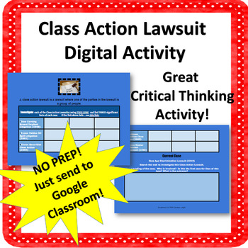 Class Action Business Lawsuit Digital Activity