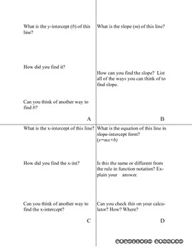 Class Activity - Cards and Graphs - Linear Equations - PP