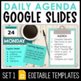 Daily Agenda Google Slides - Set 1