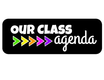 Class Agenda Posters