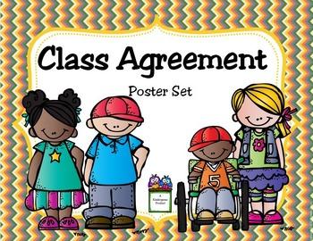 Class Agreement Poster Set