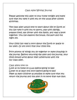 Class Alien Writing Journal