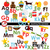 Teaching the Alphabet Digital Clipart and Flashcards by Poppydreamz