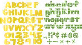 Class Alphabet and Number Clipart by Poppydreamz