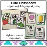 Cute Classroom! (purple and turquoise chevron classroom decor)