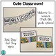 Cute Classroom! (purple and turquoise polka dot alphabet and number decor)