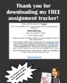 Class Assignment Tracker