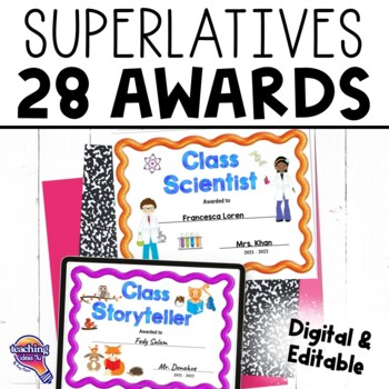 27 End of the Year Superlative Award Certificates & 2 Nomi