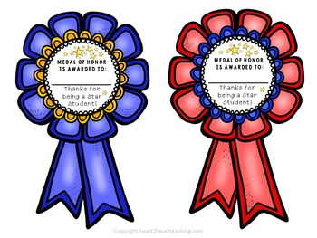 End of Year Class Awards - Field Day Awards - Reward Ribbons