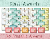 Class Awards, Student Awards, Printable Awards - Instant Download