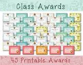 Class Awards, Student Awards, Printable Awards - Instant Download