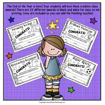 End of Year Class Awards - Class Awards - Reward Certificates