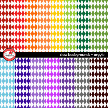 Class Backgrounds Argyle Digital Paper by Poppydreamz