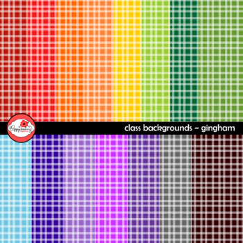 Class Backgrounds Gingham Digital Paper by Poppydreamz