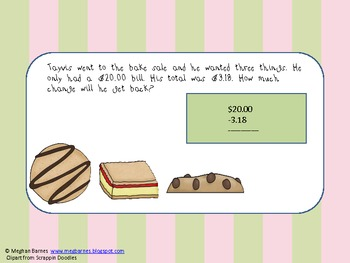 Class Bake Sale (Reviewing how to make change one sweet at a time)
