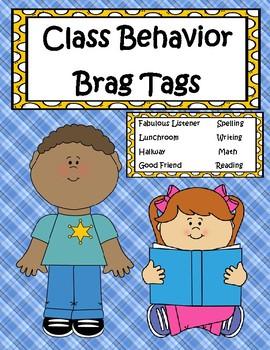 Class Behavior Brag Tags