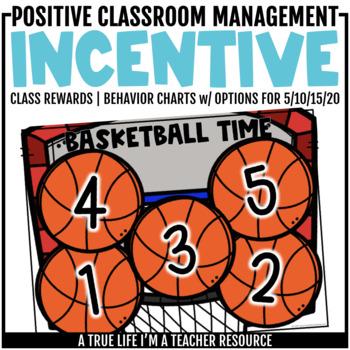 Class Incentive | Class Reward | Behavior Chart - Basketball