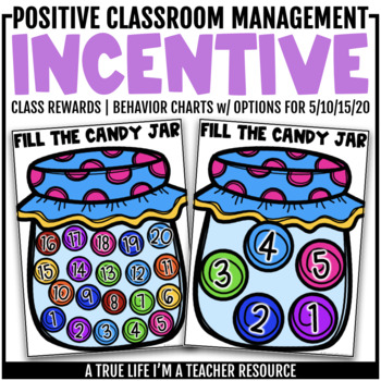Class Incentive | Class Reward | Behavior Chart - Candy Jar Behavior