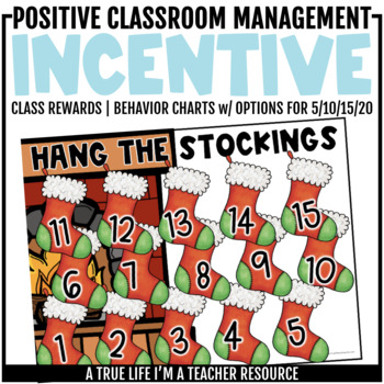 Class Incentive | Class Reward | Behavior Chart - Hang the Stockings