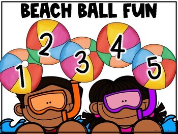 Class Incentive | Class Reward | Behavior Chart - Beach Ball Fun