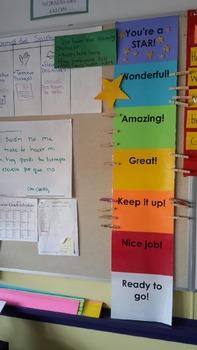 Class Behavior Management System- Rainbow Clip Chart
