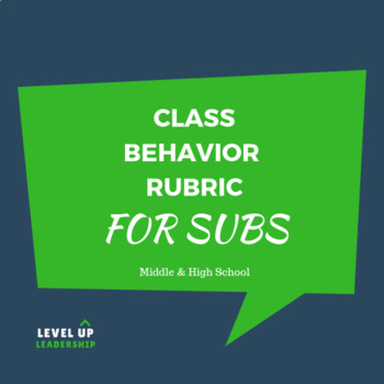 Class Behavior Rubric for Subs