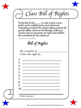 Class Bill of Rights