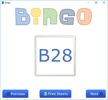 Class Bingo Game