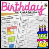 Birthday Bar Graph and Tally Mark Page - Spanish and English