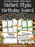 Class Birthday Board - Safari Style Theme {Jungle and Animal Print}