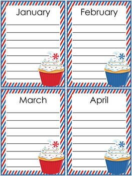 Class Birthday Board - Stars and Stripes Theme {Red, White, and Blue}