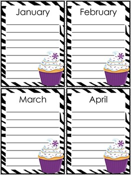 Class Birthday Board - Super Sassy Theme {Bold and Zebra Print}