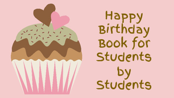 Class Birthday Book Activity Writing, Adjective, and Drawing Practice