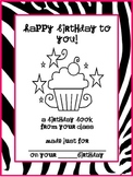 Class Birthday Book - Three Different Themes!