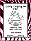 Class Birthday Book - Three Different Themes!