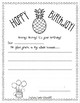 Class Birthday Book - Pineapple Theme with editable cover