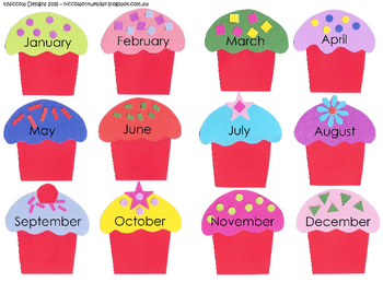Class Birthday Cupcake Chart By An Idea On Tuesday