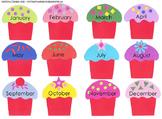Class Birthday Cupcake Chart