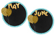Class Birthday Decoration- Gold Balloons