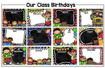Class Birthday Poster