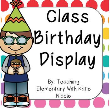 Class Birthday Sign