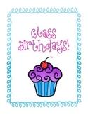 Class Birthdays