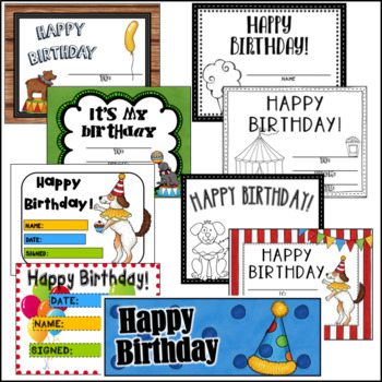 Circus Birthday- Editable