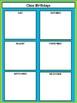 Class Birthdays Chart - Lime & Teal