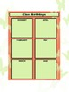 Class Birthdays Chart - Squares - Coral Butterfly Theme