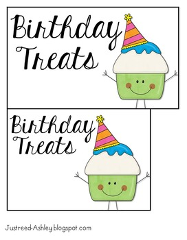 Class Birthdays : Easy, Low-Prep Treats {FREEBIE}