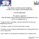 Class Birthdays Excel Graphing Project
