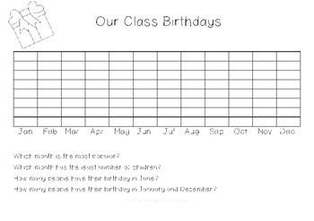 Class Birthdays Graphing Activity