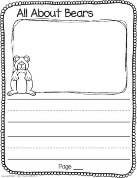 Class Book All About Bears